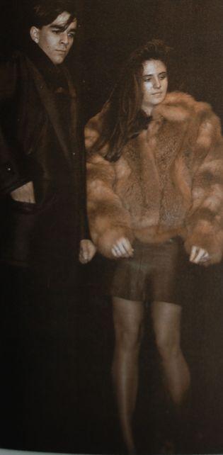 Andrés y Alba, con la seriedad que impone pasear unas pieles semejantes